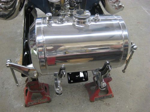 Custom fuel tank ready for mounting