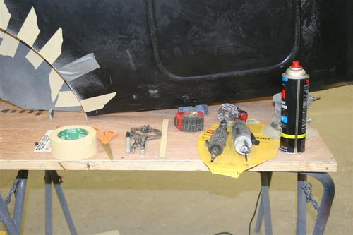 Tools required for prepping fiberglass