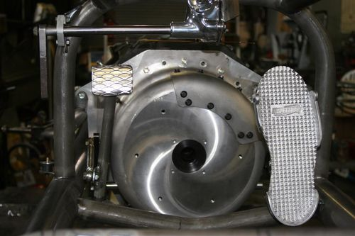 Custom clutch pedal and throttle pedal