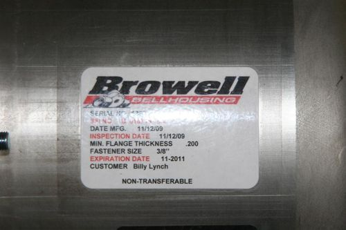 Browell bellhousing specs